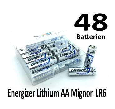 48 Energizer Lithium AA Batterien in (Flachbox)
