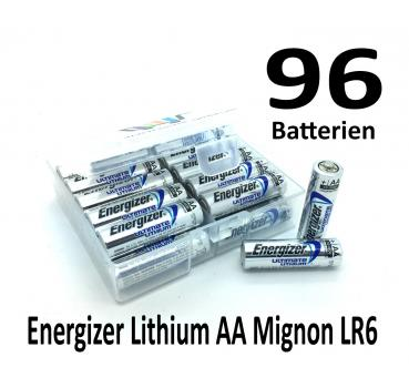 96 Energizer Lithium AA Batterien in (Flachbox)