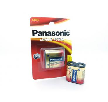 5 Panasonic CRP2 CR-P2 Lithium Foto-Batterien