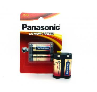 1 x Panasonic 2CR5 2CR5M Foto-Batterien Lithium