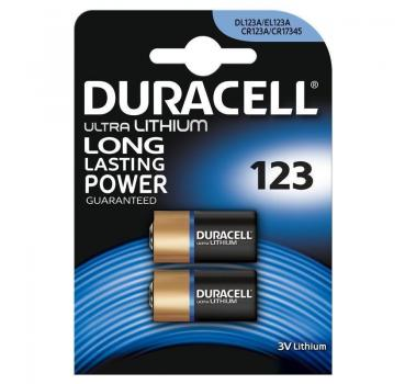 10 Batterien Duracell Ultra CR123A DL123A EL123A 3V Lithium